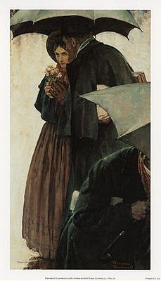 Jo March and Professor Bhaer | Little Women | illustration by Norman Rockwell