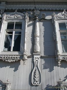 Tomsk. The wooden house of the beginning of the 20th century.