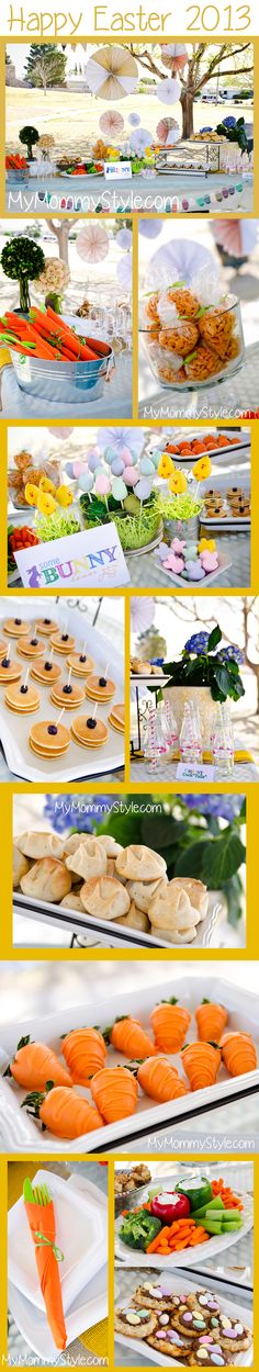 Easter brunch decorations and recipes