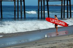 Lifeguard, Oceanside, CA. Not quite Exmouth in Devon but we run lideguard courses: www.eastdevontraining.org.uk or www.beachlifeguardcourses.co.uk see our YouTube page