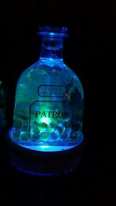 Bottle lamps! Green Patron Bottle Lamps, Lamps For Sale, Vase, Green, Home Decor, Decoration Home, Room Decor, Jars, Vases