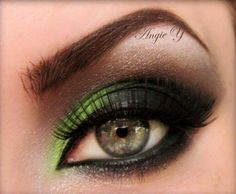 Green w smokey eyes