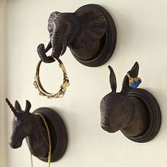 Ordered these for Ilas room. Emily and Merritt wall hooks. Potterybarn