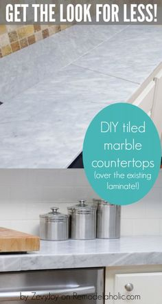 DIY Tiled Marble Countertops, A Budget Friendly Alternative To Pricy Marble  Slab Countertops AND