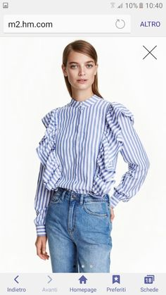 0cb759f2c38 Blouse in a cotton weave with a small stand-up collar