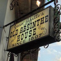Absinthe anyone? #jeanlafitte #frenchquarter #neworleans #bar #landmark #saloon #absinthe by tagmmr