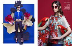 Left Total look / Frankie Morello Sunglasses / Kenzo Right Bomber / Co|Te Trousers / Alysi  Sandals / Sebastian Sunglasses / Roberto Cavalli...