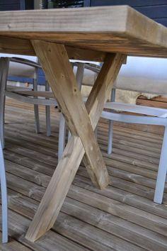Kotilaituri: Terassin pöytä Summer Kitchen, Pergola, Cottage, Yard, Diy Crafts, Patio, House, Furniture, Outdoors