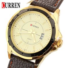 Find More Casual Watches Information about newest curren hardlex stainless steel quartz leather watch clock mens wrist analog Water Resistant Watch Fashion & Casual,High Quality clock tool,China watches order Suppliers, Cheap watch lether from Headphone Mart on Aliexpress.com