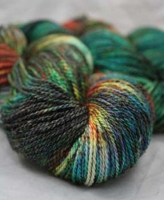 Limited Edition Hand Painted SW Merino/SeaCell Sock by UrbanGypZ, $30.00