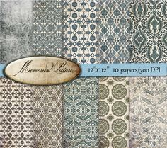 Digital scrapbook  Paper Pack // oriental asia  wallpapers //  Backgrounds // Commercial Use // 12 x 12 sheets  10  papers (72) MemoriesPictures 3.90 USD