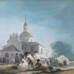Francisco Goya Pilgrimage to the Church of San Isidro, , Museo del Prado, Madrid. Read more about the symbolism and interpretation of Pilgrimage to the Church of San Isidro by Francisco Goya. Spanish Painters, Spanish Artists, Painting Gallery, Art Gallery, Francisco Goya Paintings, Francisco Jose, Museum, Pilgrimage, Art Reproductions
