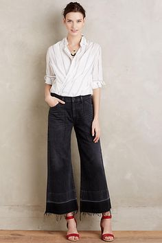 Citizens of Humanity Melanie Wide-Leg Crop Jeans - anthropologie.com