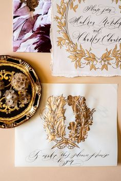 Beautiful, Italian style vintage crest design with gold hand painted details for a luxury wedding at Villa Balbiano Blush Pink Weddings, Romantic Weddings, Luxury Wedding Venues, Destination Wedding, Italian Wedding Invitations, Blush Wedding Stationery, Lake Como Wedding, Italy Wedding, Save The Date Cards