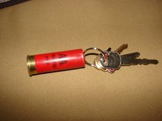 Shotgun Shell Keychain Bullet Key Chain Real 12 by sportsmanlights, $4.00