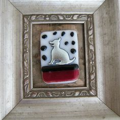 Happy Doggie Dichroic Fused Glass Brooch by BeauxBangles on Etsy, $23.00