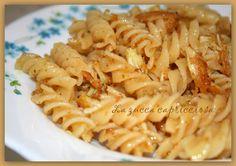 La zucca capricciosa: Fusilli with crispy chicken >> Fusilli al pollo croccante