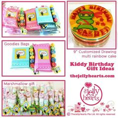 Childcare birthday celebrations Jelly Hearts, Birthday Celebrations, Goodie Bags, Childcare, Marshmallow, Birthday Gifts, Goodies, Rainbow, Drawings
