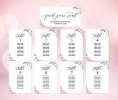 wedding seating cards template seating chart bridal shower baby shower baptism rehearsal dinner seating chart template instant download