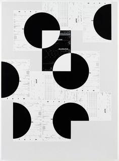 "Prints by Michael Riedel. titled ""Robert Bringhurst"""