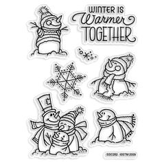 Stampendous Perfectly Clear Stamp Set, Winter Warm