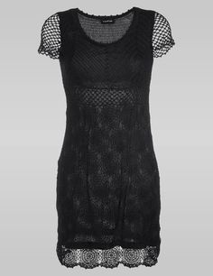 Crochetemoda: Vestido Crochet Negro