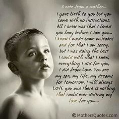 My love for you. ..