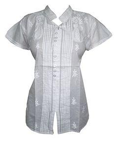 Yoga White Boho Blouse Tops Floral Embroidered Cotton Tunic Indian Kurta Xl Mogul Interior http://www.amazon.com/dp/B00RQ2RE1I/ref=cm_sw_r_pi_dp_LJuxvb0FF6MZ3