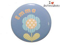 Namensbutton-50mm+Anstecker+personalisierbar+Name+von+Buttons&Books+auf+DaWanda.com