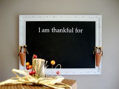 Thankful chalkboard: don't want a theme because we want to have it hang all year!