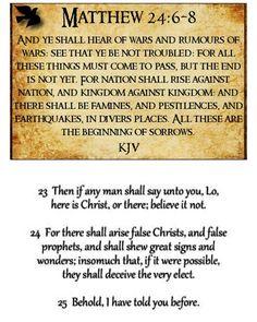 (8)  Matthew 24:4-28 King James Version (KJV)