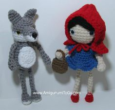 Little Red Riding Hood and wolf Free Pattern ~ Amigurumi To Go