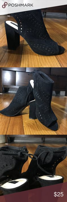 Forever 21 Booties Worn only one time Very stylish and cute, goes perfect with jeans. Has a little lace in the back. Height = 4 inches Forever 21 Shoes Heeled Boots