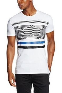 Hombre Camisetas - Antony Morato T Shirt Girocollo Stampa Geometrica, Camisa  De Pijama, 1000 b0e9d3c055