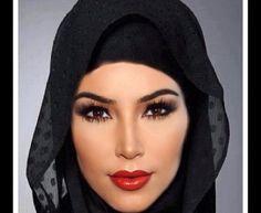 Kim kardashian ... Soo much better in a hijab .. or