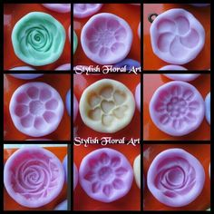 Flexible silicone molds  Available at https://www.facebook.com/StylishFloralArt