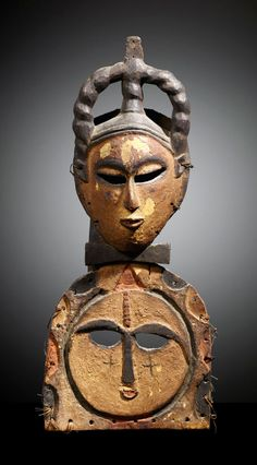 Africa | Mask from the Ibibio - Eket people of Nigeria | Wood with pigment. H…