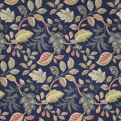 Warwick Fabrics : BIRCHWOOD, Colour INDIGO