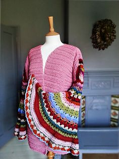 Coat Of Many Colors Sweater By Shelle Hendrix - Purchased Crochet Pattern - (ravelry)