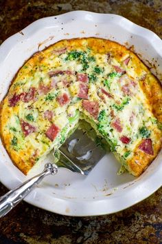 5 Ways to Use Leftover Ham + recipe for Ham & Broccoli Crustless Quiche