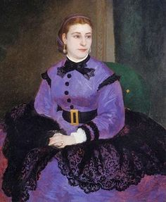Mademoiselle Sicotg 1865 by French Painter Pierre-Auguste Renoir 1841-1919 http://bjws.blogspot.co.nz/2011/02/early-renoir-paintings-of-few-middle.html