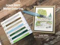 Do you ever wish you could watercolor? Want to learn how to watercolor the easy way in a peaceful place? Ive got just the card technique for you today! This beautiful card is fun and easy and features the Stampin' Up! Peaceful Place stamp set. #klompenstampers #jackiebolhuis #watercolor #watercolorcards #cardmaking #greetingcards #handmadecards #stampinup