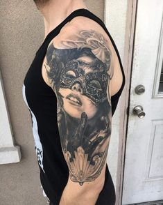 Start of my Bioshock-Inspired Masquerade Sleeve by Jake Kirk @ Rapture Tattoo Emporium in Duncannon, PA