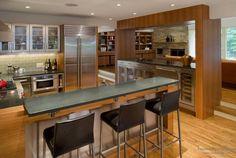 Современный дизайн кухни с барной стойкой | 50 идей для интерьера