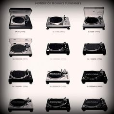 History of technics turntables.. Still love them 1200s :)