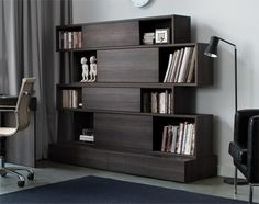 1000 images about idees bibliotheque salon on pinterest salons bookcases and mezzanine. Black Bedroom Furniture Sets. Home Design Ideas