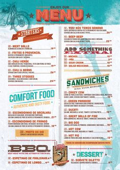 Restaurants often over look their menu designs. I'm sure you've probably visited numerous restaurants with ugly menus. If you're a restaurant owner, you might Menu Restaurant, Restaurant Fast Food, Menu Bar, Diner Menu, Restaurant Identity, Restaurant Design, Restaurant Menu Template, Cafe Menu Design, Food Menu Design