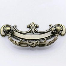 Large Ornate Dresser Drawer Pulls Knobs Handles Antique Brass / ...