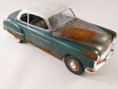 1950 Oldsmobile 1/24 scale model car in green by classicwrecks, $75.00