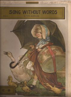 Song Without Words, Vintage Sheet Music, Jean Louis Streabbog, Illustration of…